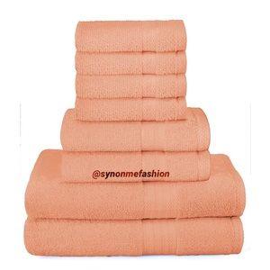 UltraSoft 8Piece TowelSet100% Pure Ringspun Cotton